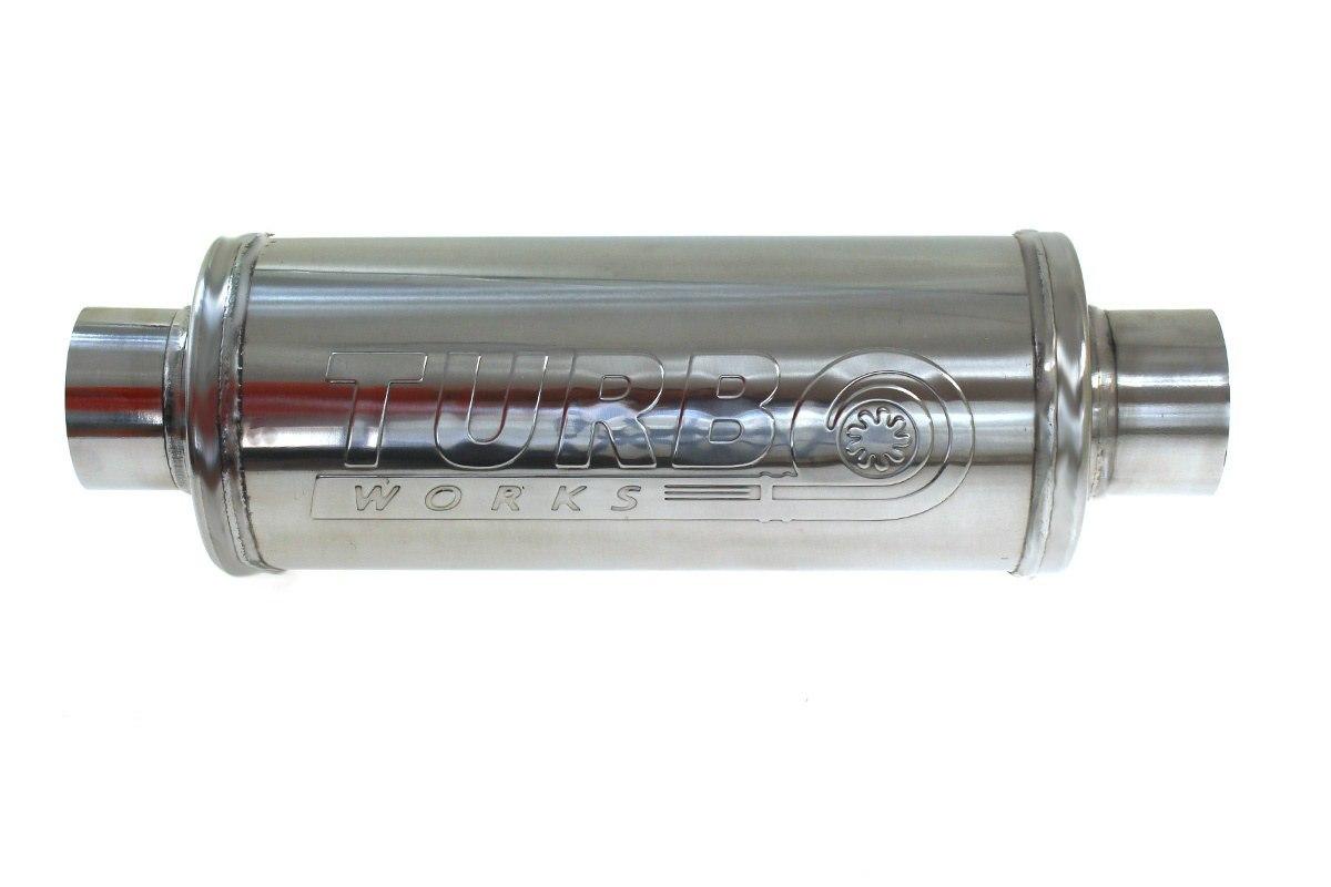 Tłumik Środkowy 63,5mm TurboWorks RS 409SS 450mm - GRUBYGARAGE - Sklep Tuningowy